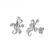 14K Gecko Earrings